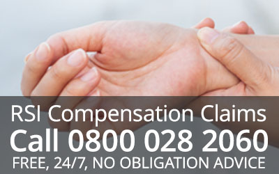 How much compensation for repetitive strain injury
